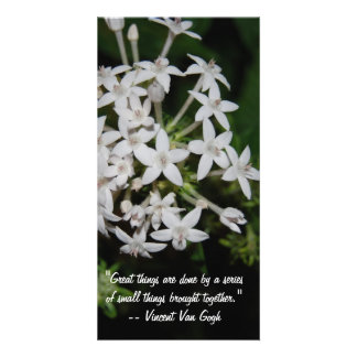 Great sayings and Quotes- White flowers Card