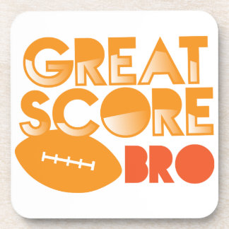 Great Score Bro! with Football Coasters
