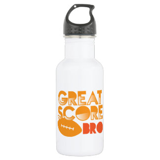 Great Score Bro! with Football 18oz Water Bottle