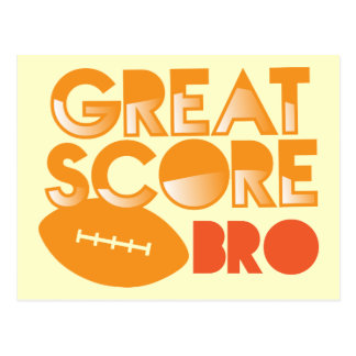 Great Score Bro! with Football Postcard