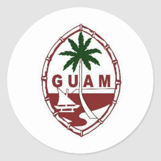 Great seal of Guam Round Stickers