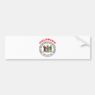 Great Seal Of  State Delaware Bumper Stickers