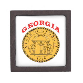 Great Seal Of  State Georgia Premium Jewelry Boxes