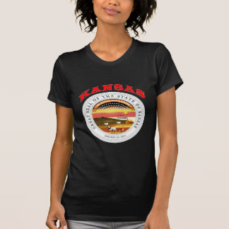 Great Seal Of  State Kansas T-shirt
