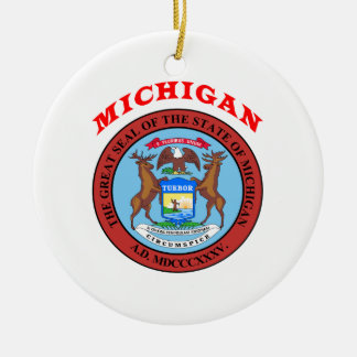 Great Seal Of  State Michigan Christmas Ornament