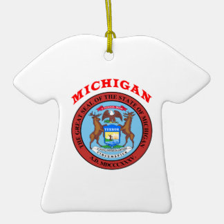 Great Seal Of  State Michigan Christmas Tree Ornaments