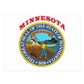 Great Seal Of  State Minnesota Postcard