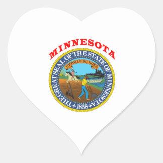 Great Seal Of  State Minnesota Heart Sticker
