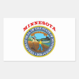 Great Seal Of  State Minnesota Rectangular Sticker