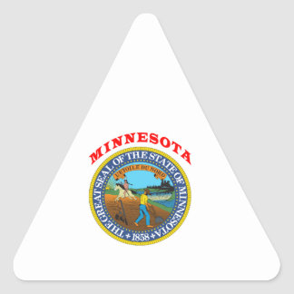 Great Seal Of  State Minnesota Triangle Sticker