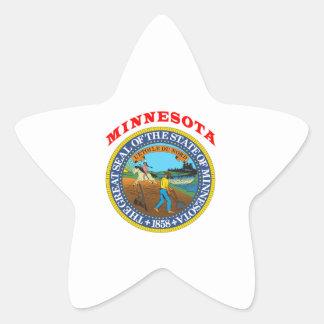 Great Seal Of  State Minnesota Star Sticker