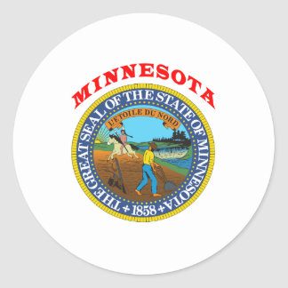 Great Seal Of  State Minnesota Classic Round Sticker