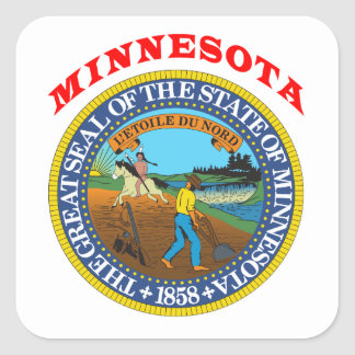 Great Seal Of  State Minnesota Square Sticker