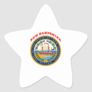 Great Seal Of State New Hampshire Star Stickers