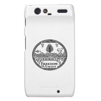 Great Seal Of  State Vermont Droid RAZR Cover