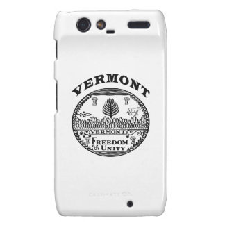 Great Seal Of  State Vermont Droid RAZR Cases