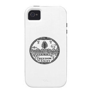Great Seal Of  State Vermont iPhone 4 Cases