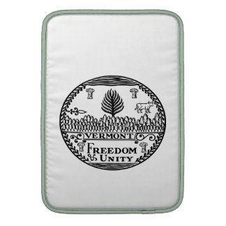 Great Seal Of  State Vermont MacBook Air Sleeves