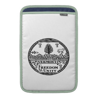 Great Seal Of  State Vermont MacBook Sleeves