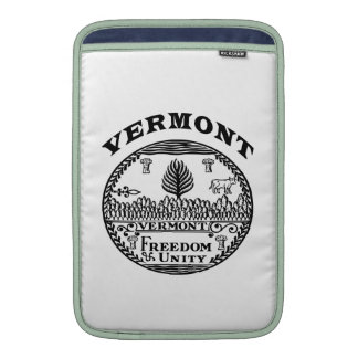Great Seal Of  State Vermont MacBook Sleeve