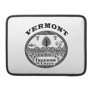 Great Seal Of  State Vermont Sleeve For MacBook Pro