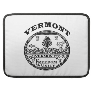 Great Seal Of  State Vermont Sleeves For MacBooks