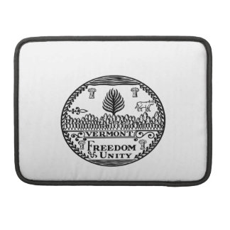 Great Seal Of  State Vermont MacBook Pro Sleeve