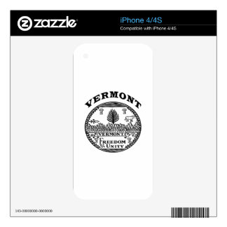 Great Seal Of  State Vermont iPhone 4S Skins