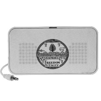 Great Seal Of  State Vermont iPod Speakers