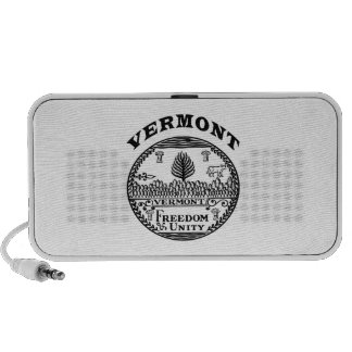 Great Seal Of  State Vermont Notebook Speakers