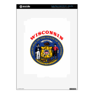 Great Seal Of  State Wisconsin Decals For iPad 3