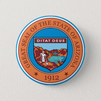 Great seal of the state of Arizona Pinback Button