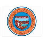 Great seal of the state of Arizona Post Card