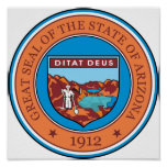 Great seal of the state of Arizona Poster