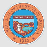 Great seal of the state of Arizona Round Stickers
