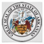 Great seal of the state of Arkansas Poster