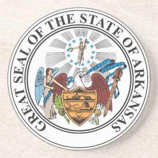 Great seal of the state of Arkansas Sandstone Coaster