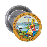 Great seal of the state of California 2 Inch Round Button