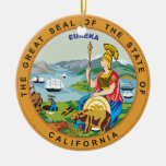 Great seal of the state of California Christmas Ornament