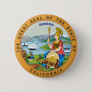Great seal of the state of California Pinback Button