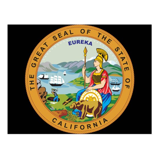 Great seal of the state of California Postcard