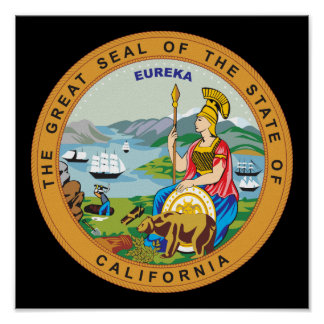 Great seal of the state of California Poster