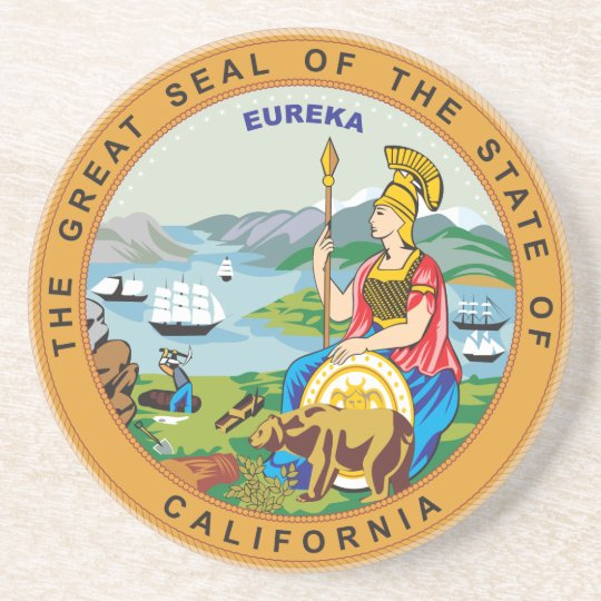 Great seal of the state of California Sandstone Coaster