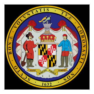 Great seal of the state of Maryland Poster