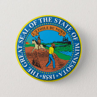 Great seal of the state of Minnesota Pinback Button