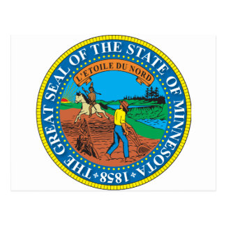 Great seal of the state of Minnesota Postcard