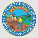 Great seal of the state of Minnesota Classic Round Sticker