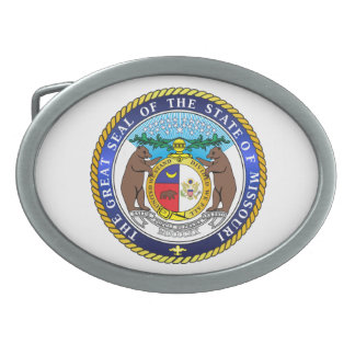 Great seal of the state of Missouri Belt Buckle