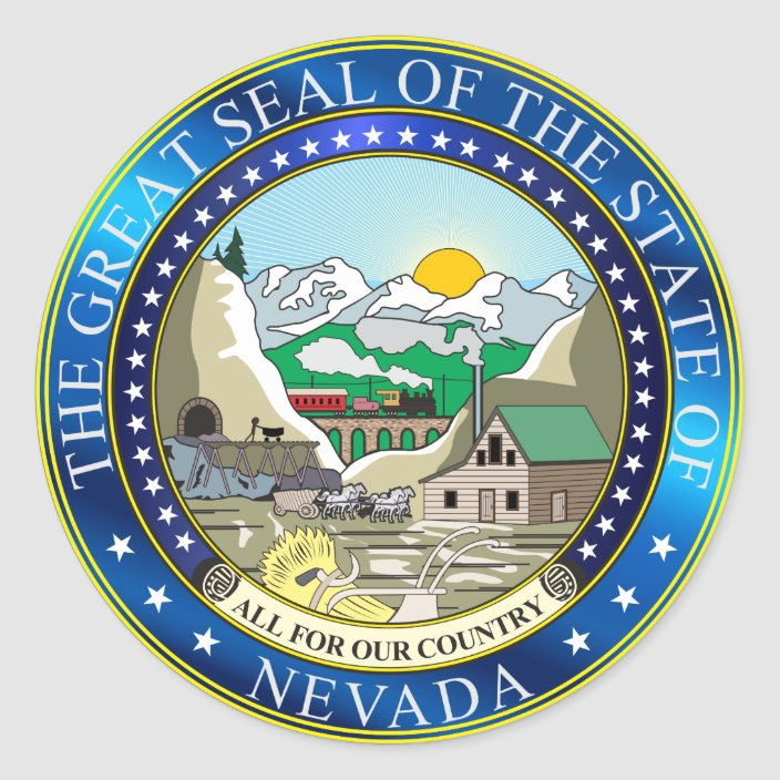 Great Seal Of The State Of Nevada Zazzle Com