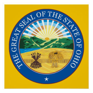 Great seal of the state of Ohio Poster
